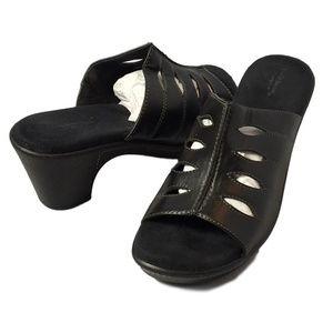 Croft & Barrow Open Toe Heels Size 8.5 Black
